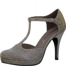 Tamaris '24428' Ladies Heels (Platinum Glitz)