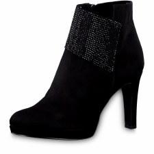 Tamaris '25383' Ladies Ankle Boots (Black Glam)