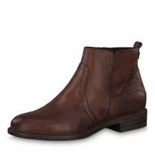 Tamaris '25397' Ladies Ankle Boots (Chestnut)
