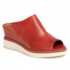 Tamaris '27200' Ladies Wedge Sandals (Chili Red)