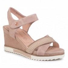 Tamaris '28350' Ladies Wedge Sandals (Old Rose)