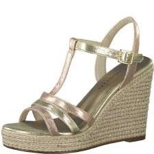 Tamaris '28372' Ladies Wedge Sandals (Rose Gold)
