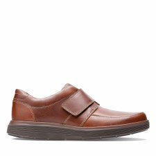 Clarks 'Un Abode Strap' Mens Shoes (Dark Tan)