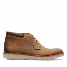 Clarks 'Vargo Mid' Mens Boots (Dark Tan)