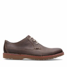 Clarks 'Vargo Plain' Mens Shoes (Dark Brown)