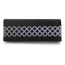 Lunar 'Ibiza' Ladies Clutch Bag (Black)