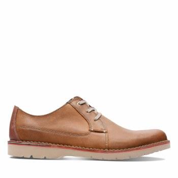 Clarks 'Vargo Plain' Mens Shoes (Dark Tan)