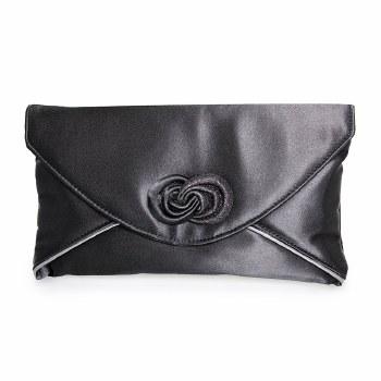 Lunar 'Ripley' Clutch Bag (Black)