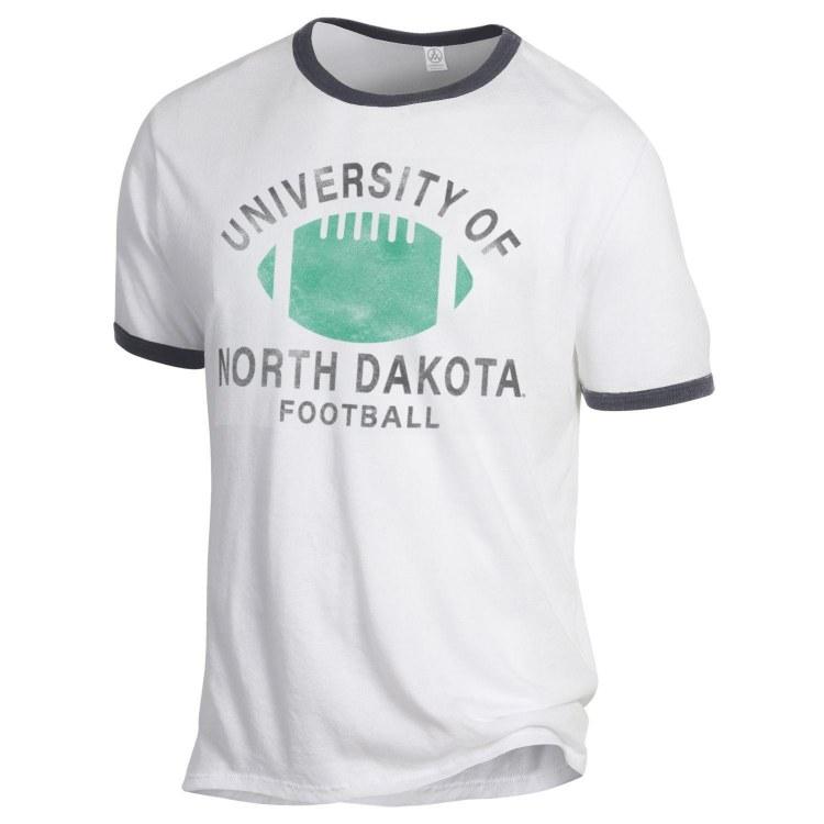 UNIVERSITY OF NORTH DAKOTA FOOTBALL RINGER TEE
