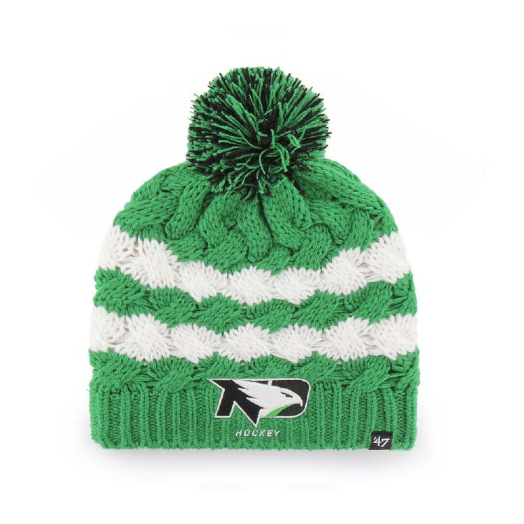 UNIVERSITY OF NORTH DAKOTA FIGHTING HAWKS HOCKEY TOPSAIL KNIT HAT