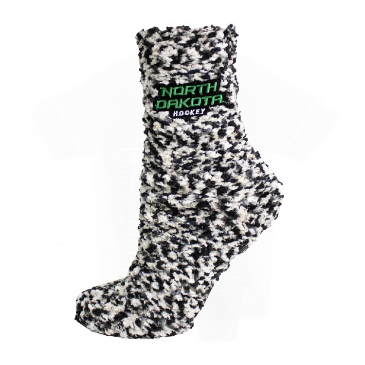UNIVERSITY OF NORTH DAKOTA HOCKEY MARLED GRIPPY SOCK