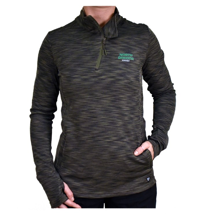 UNIVERSITY OF NORTH DAKOTA HOCKEY LADIES WAVE 1/4 ZIP