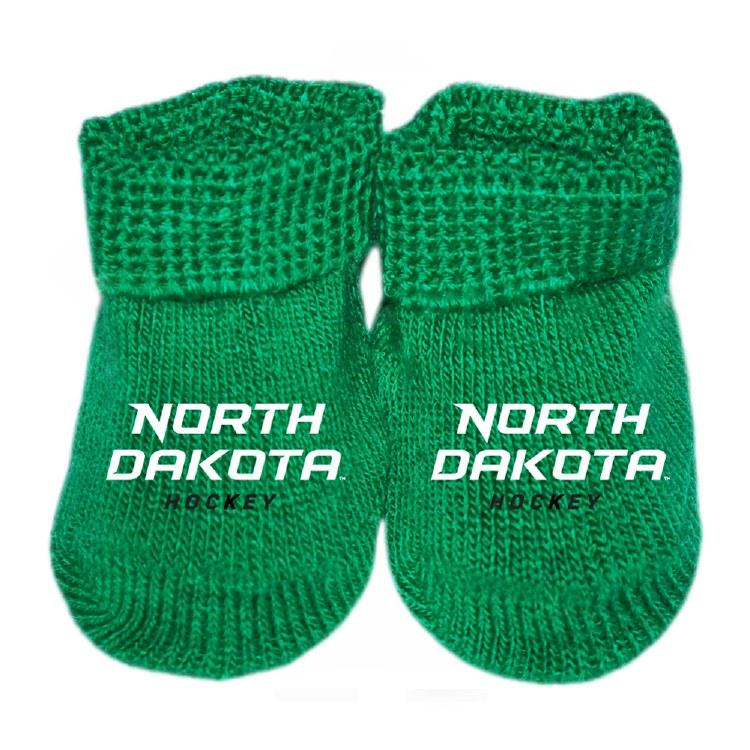 UNIVERSITY OF NORTH DAKOTA HOCKEY NEWBORN BOOTIES