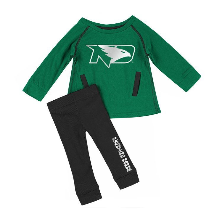UNIVERSITY OF NORTH DAKOTA INFANT GRILS TUNIC & LEGGING SET