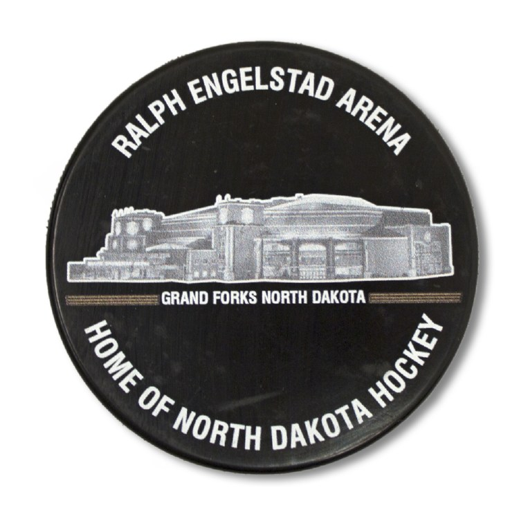 RALPH ENGELSTAD ARENA HOME OF NORTH DAKOTA HOCKEY PUCK