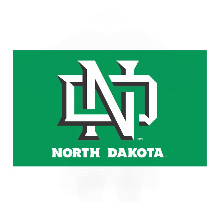 UNIVERSITY OF NORTH DAKOTA 3X5 FLAG - INTERLOCKING ND