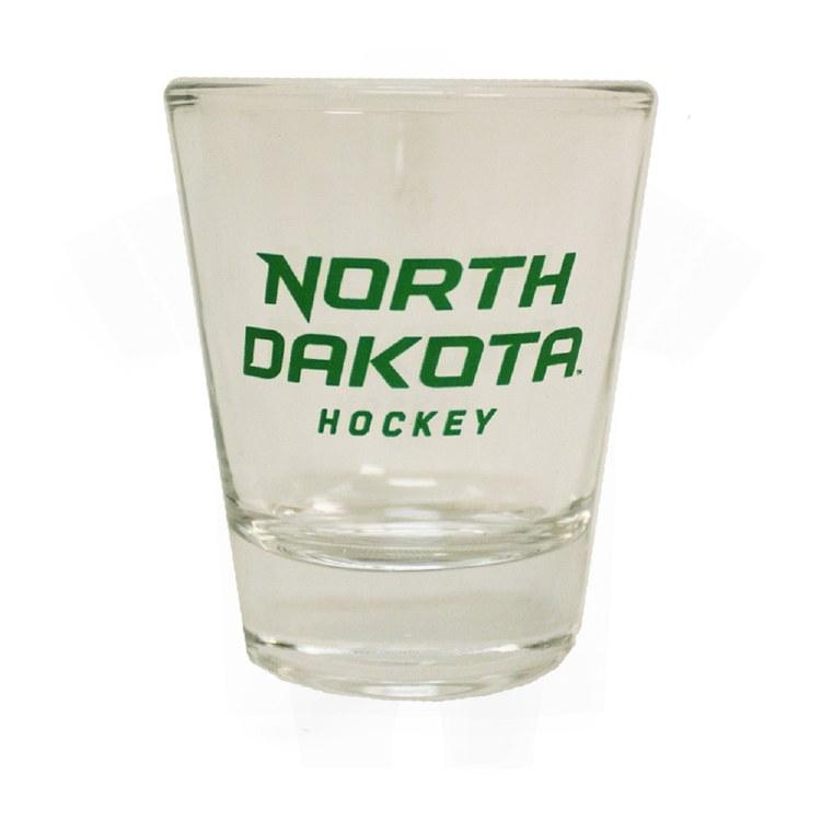 1.5OZ UNIVERSITY OF NORTH DAKOTA HOCKEY COLLECTOR GLASS