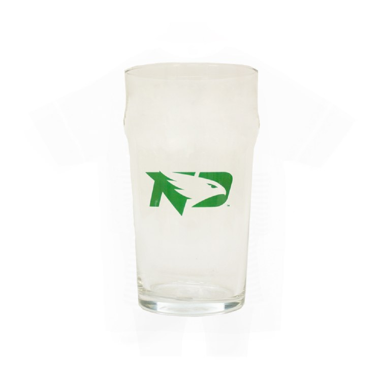 19OZ UNIVERSITY OF NORTH DAKOTA FIGHTING HAWKS LAGER GLASS