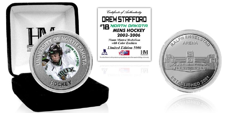 UNIVERSITY OF NORTH DAKOTA HOCKEY ALUMNI COLLECTOR COIN - DREW STAFFORD