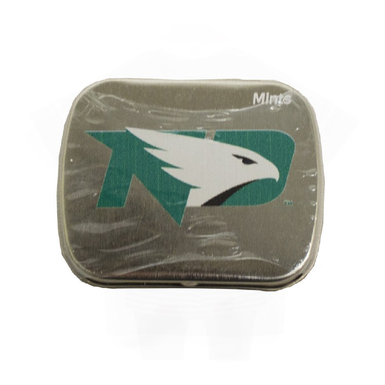 UNIVERSITY OF NORTH DAKOTA FIGHTING HAWKS SMALL TIN BREATH MINTS