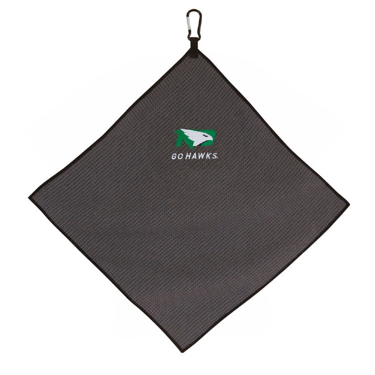 UNIVERSITY OF NORTH DAKOTA FIGHTING HAWKS MICROFIBER GOLF TOWEL