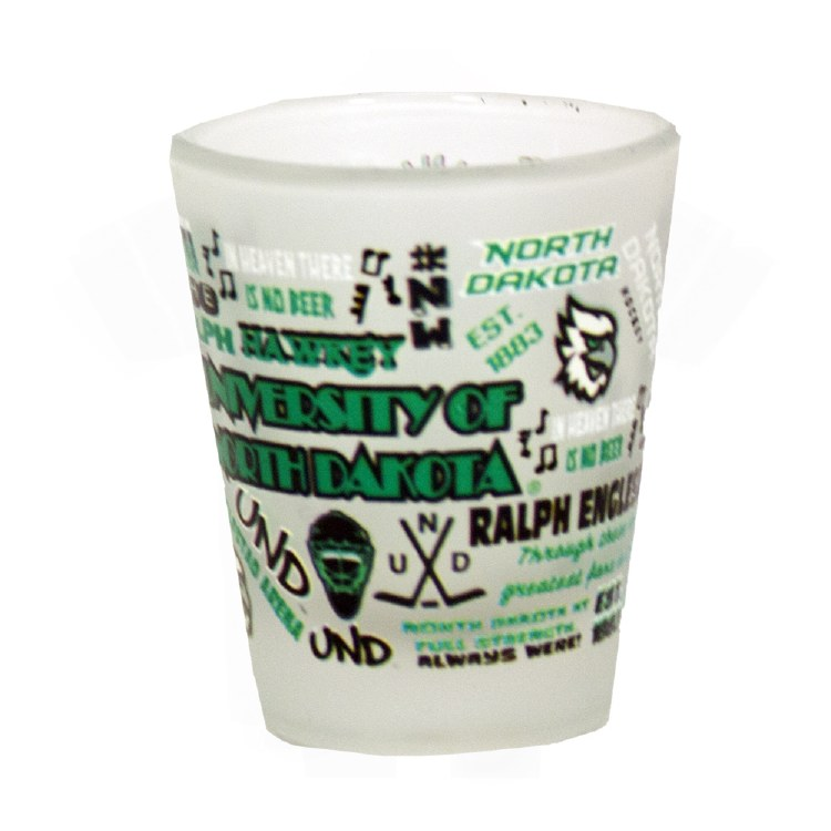 UNIVERSITY OF NORTH DAKOTA FROSTED SHOT GLASS