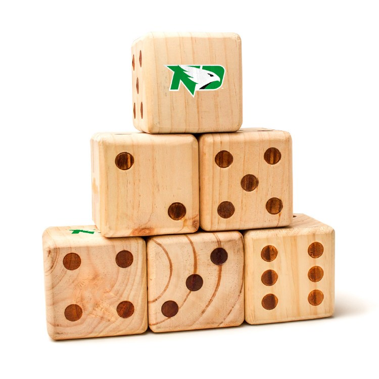 UNIVERSITY OF NORTH DAKOTA FIGHTING HAWKS YARD DICE