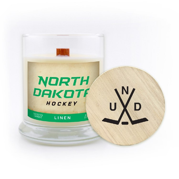 UNIVERSITY OF NORTH DAKOTA HOCKEY WOOD WICK CANDLE