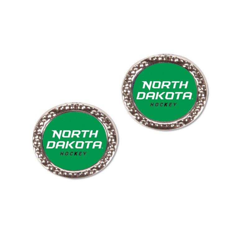 UNIVERSITY OF NORTH DAKOTA HOCKEY POST EARRINGS