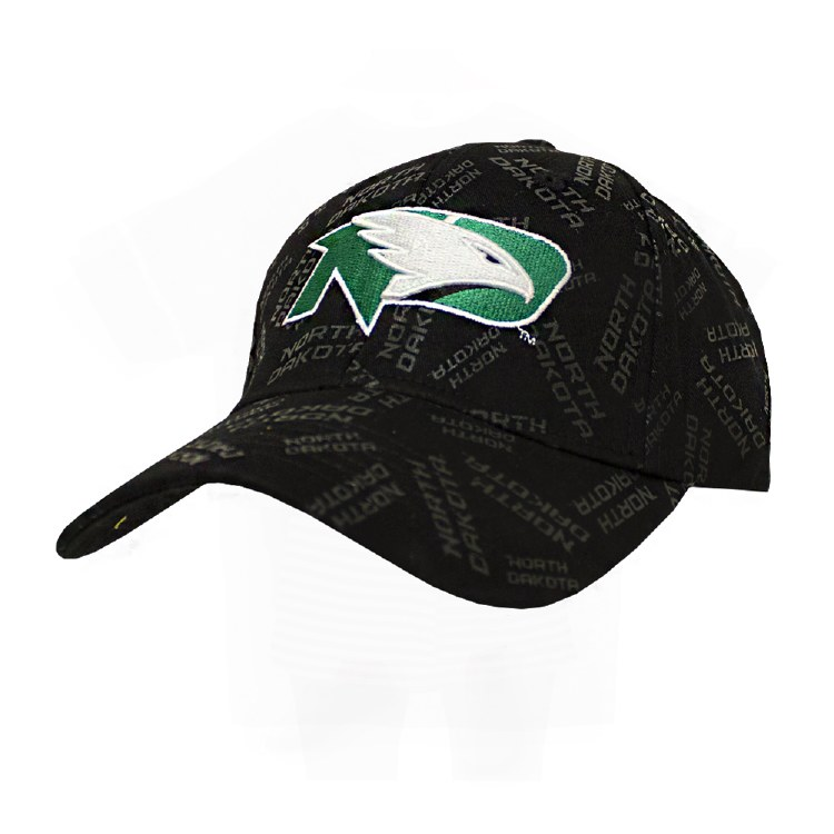 UNIVERSITY OF NORTH DAKOTA ALL OVER HAT