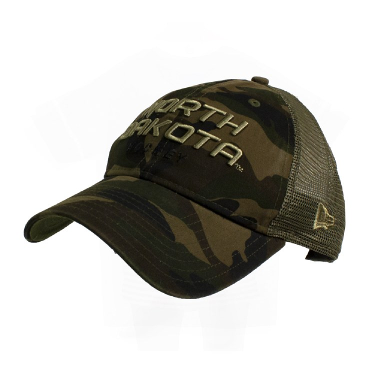 UNIVERSITY OF NORTH DAKOTA CAMO TRUCKER HAT