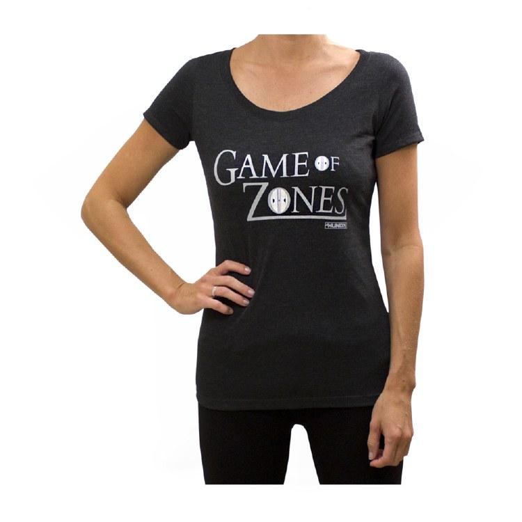 LADIES GAME OF ZONES SCOOP NECK