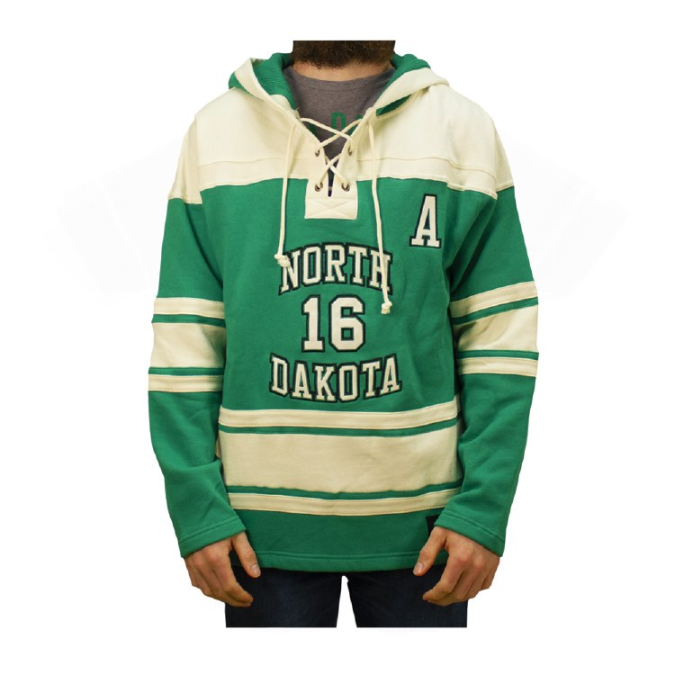 BROCK BOESER UNIVERSITY OF NORTH DAKOTA HOCKEY LACER HOOD