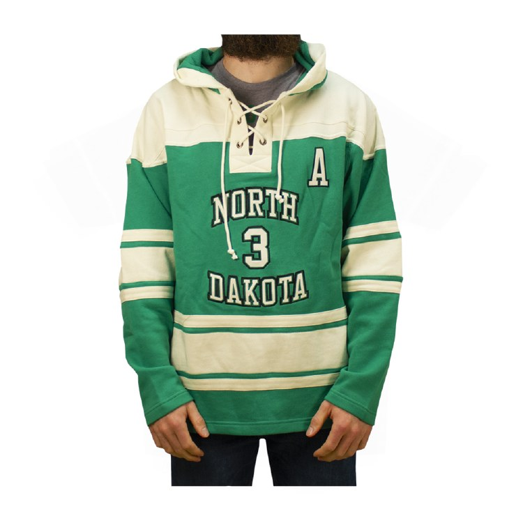 TUCKER POOLMAN UNIVERSITY OF NORTH DAKOTA HOCKEY LACER HOOD