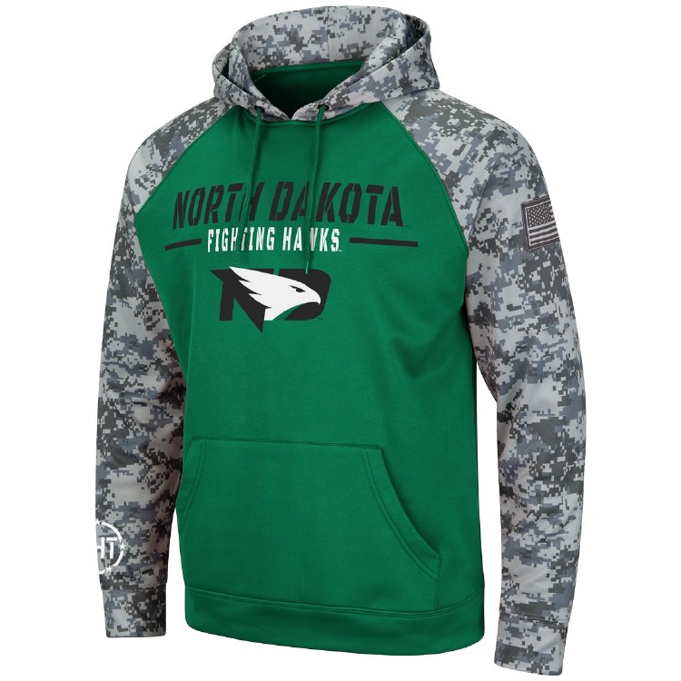 UNIVERSITY OF NORTH DAKOTA FIGHTING HAWKS OPERATION HAT TRICK HOOD
