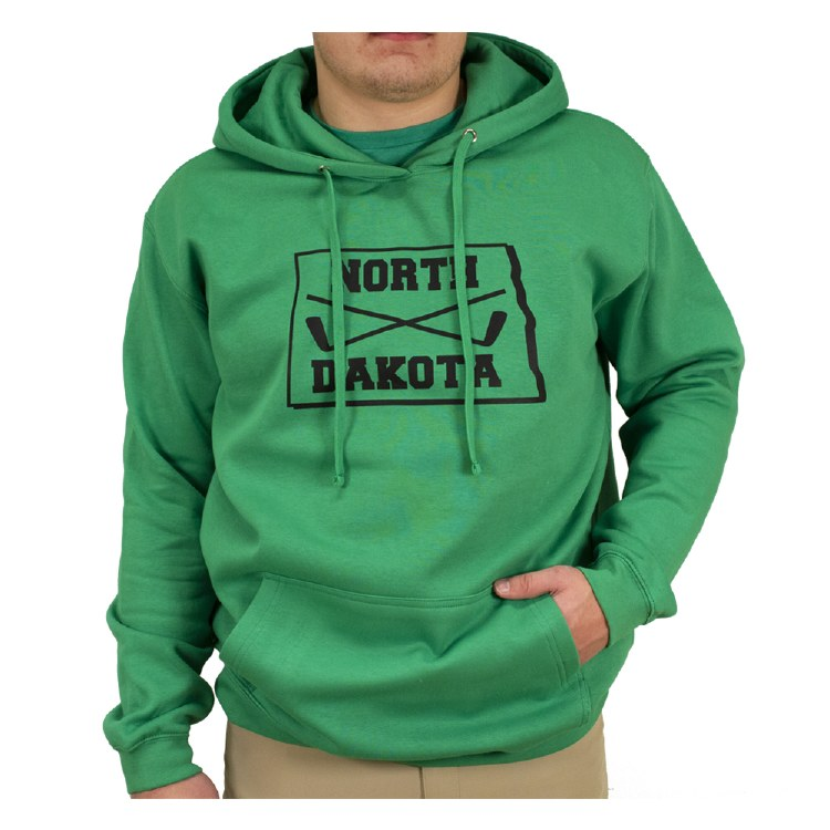 STATE OF NORTH DAKOTA WITH STICKS HOOD