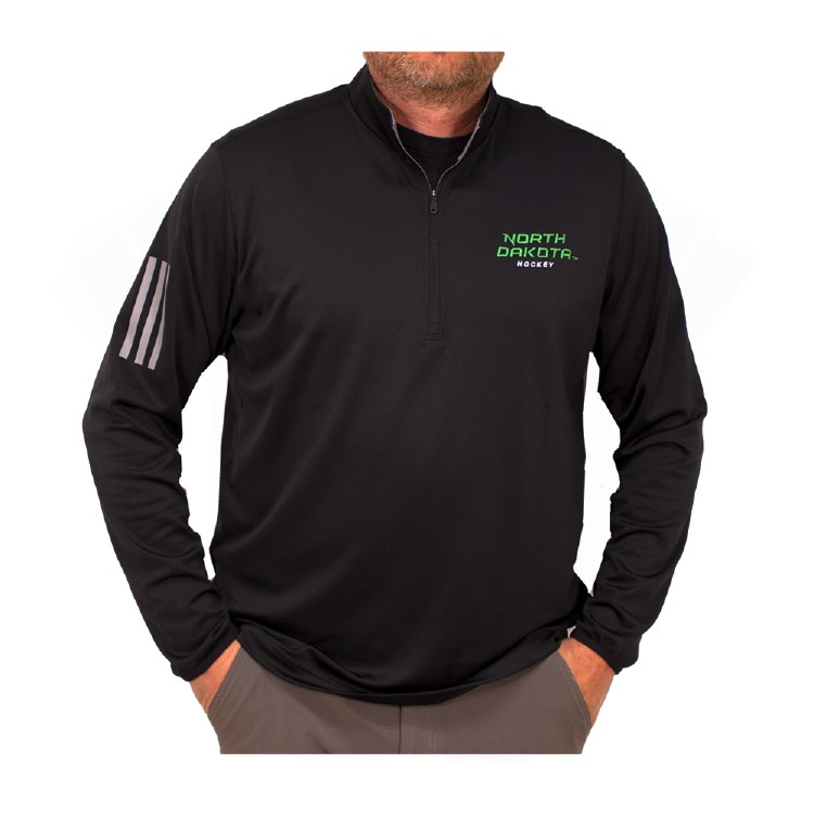 ADIDAS 3-STRIPES NORTH DAKOTA HOCKEY LAYER PULLOVER