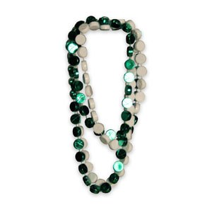 HOCKEY BEADS - GRN/WHT