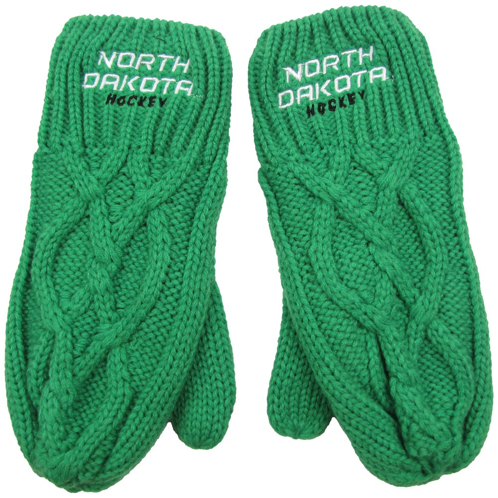 NORTH DAKOTA HOCKEY CABLE Z MITTEN