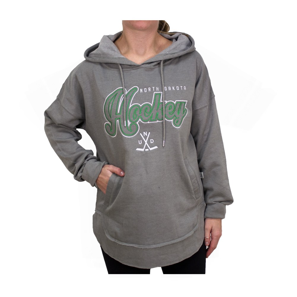 UNIVERSITY OF NORTH DAKOTA HOCKEY LADIES VINTAGE LOUNGE HOOD