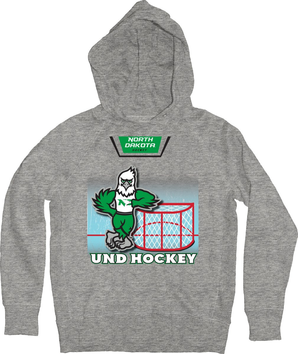 UNIVERSITY OF NORTH DAKOTA FIGHTING HAWKS MASCOT GOAL HOOD