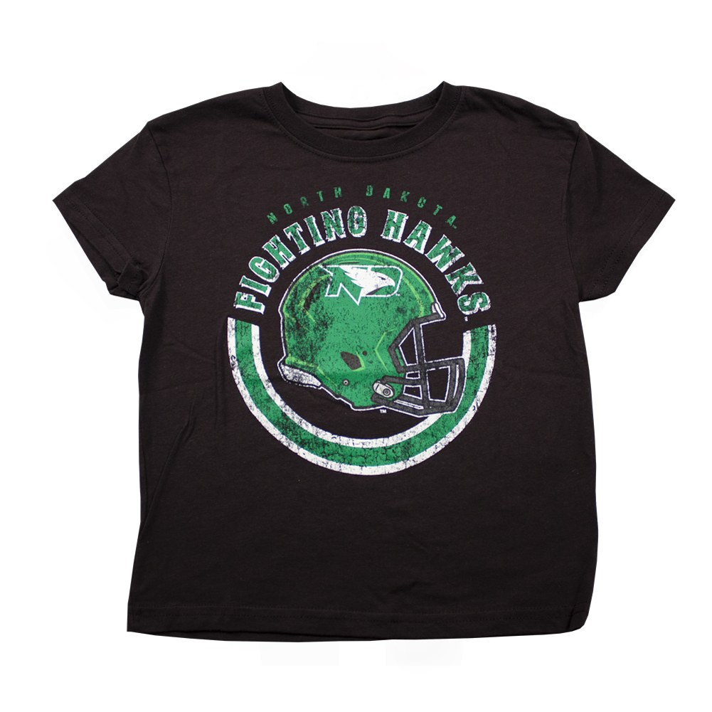 PROPERTY OF UNIVERSITY OF NORTH DAKOTA FIGHTING HAWKS FOOTBALL TEE