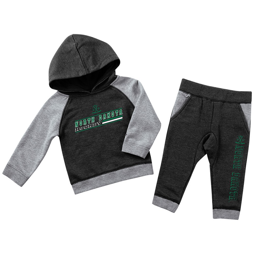 NORTH DAKOTA HOCKEY INFANT FLEECE SET