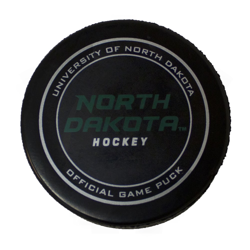 UNIVERSITY OF NORTH DAKOTA OFFICIAL ON ICE GAME PUCK
