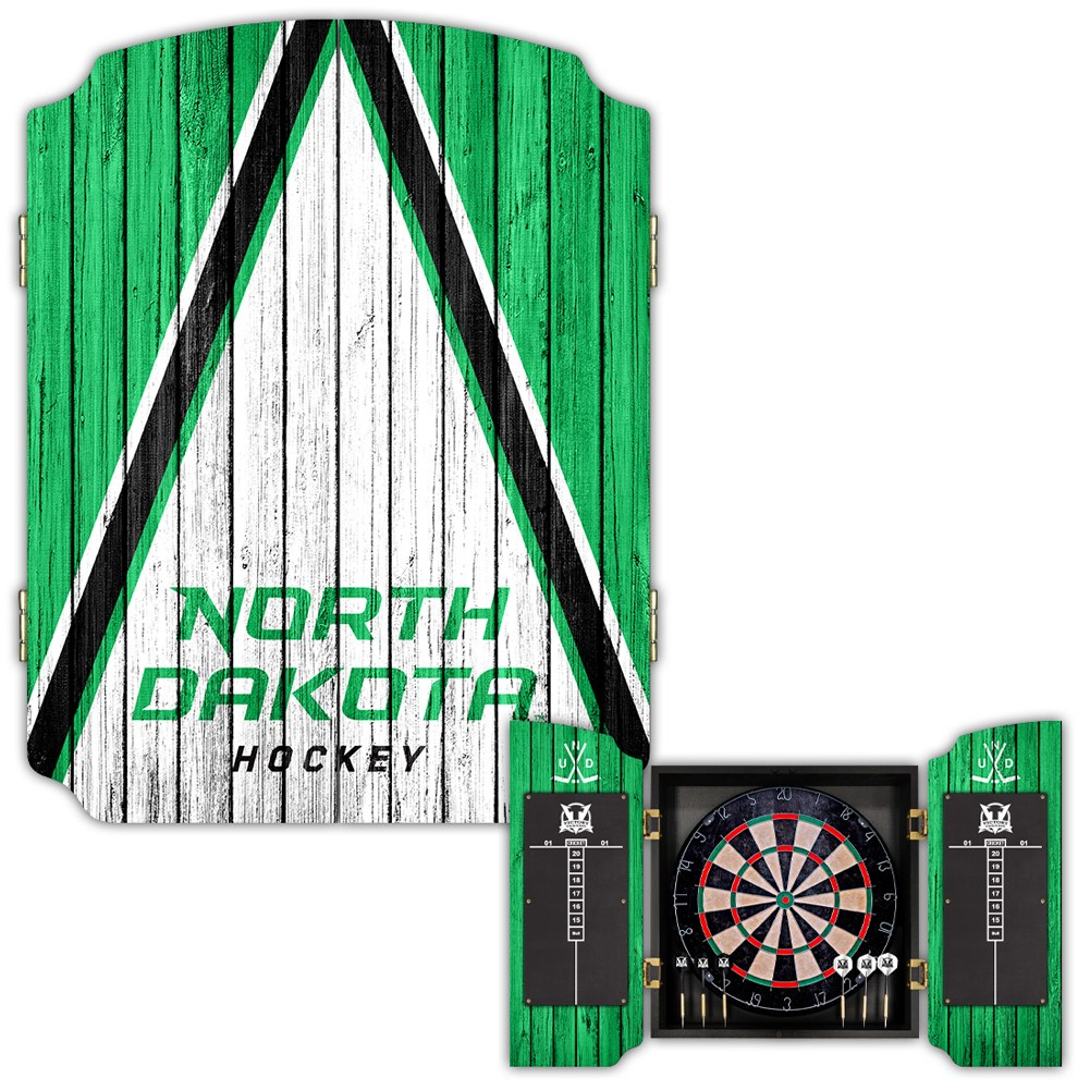 UNIVERSITY OF NORTH DAKOTA HOCKEY DARTBOARD SET