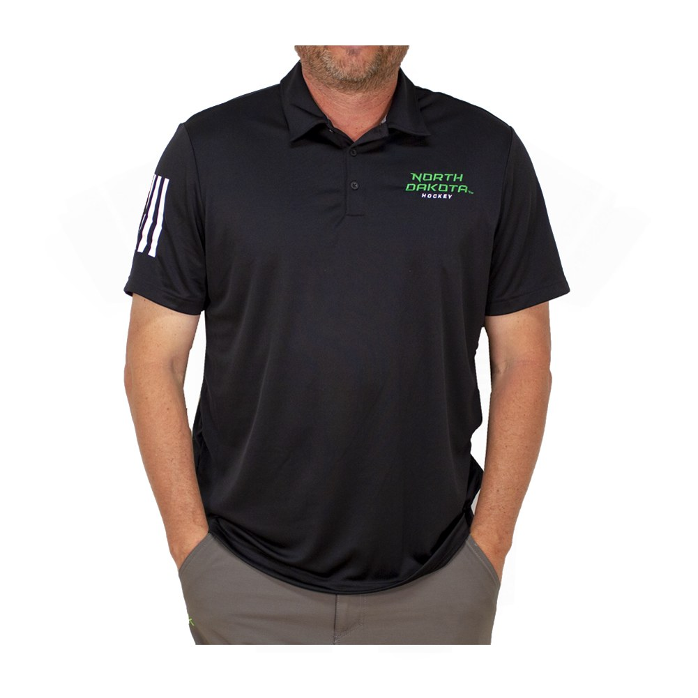 NORTH DAKOTA HOCKEY 3-STRIPES POLO