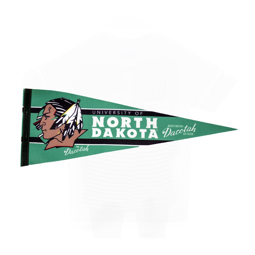 UNIVERSITY OF NORTH DAKOTA FIGHTING SIOUX BARS PENNANT