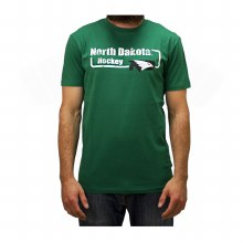 UND FIGHTING HAWKS HOCKEY BI-BLEND BLOCK TEE