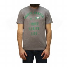 UNIVERSITY OF NORTH DAKOTA 3 STRIPE LIFE TRI-BLEND TEE