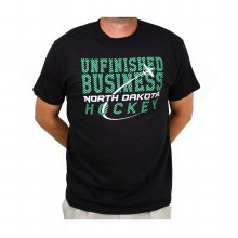UNIVERSITY OF NORTH DAKOTA HOCKEY UNFINISHED BUSINESS SERIES TWO AVIATION DAY TEE